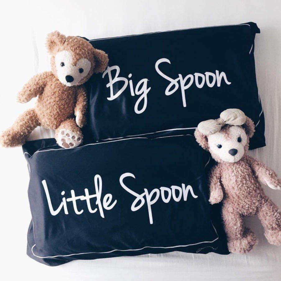 Big spoon little spoon pillowcase