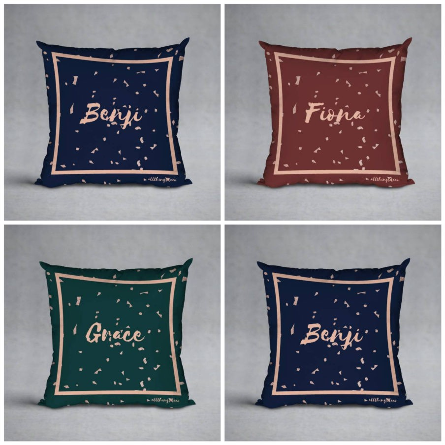 Lindsey Pillows by ATD. Personalised pillow