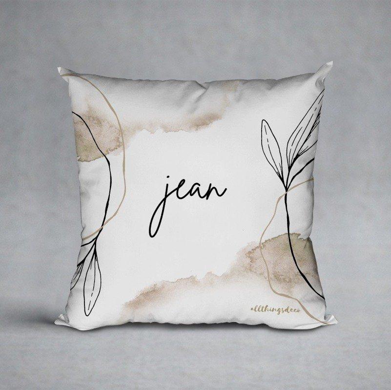 new beginnings cushion white
